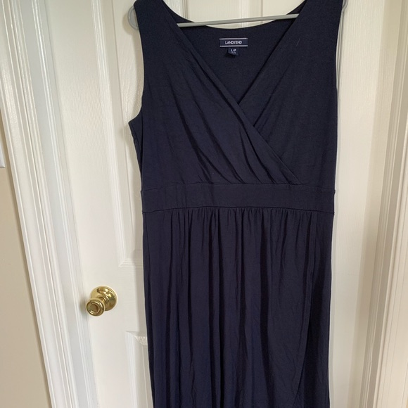 Lands' End Dresses & Skirts - Navy Blue Maxi Wrap Dress